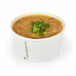 12oz White Biodegradable Soup Containers