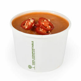 16oz White Biodegradable Soup Containers