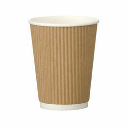 8oz Triple Wall Kraft Ripple Cup