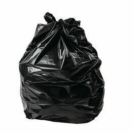 "20 x 34 x 39"" Extra Wide Heavy Black Refuse Sacks"
