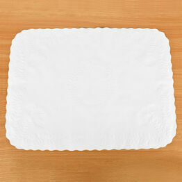 "Embossed Tray Paper 13.75 x9.5"" White ETP-14"