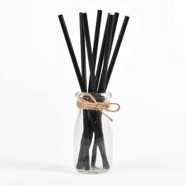 6mm Black Biodegradable Paper Straws