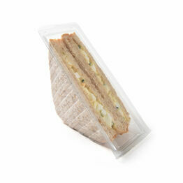Clear Sandwich Wedge Container - Standard Hinged Lidded