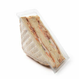 Deepfill Clear Hinged Lidded Takeaway Sandwich Wedge