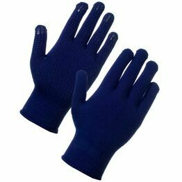 Thermal Gloves Blue With Dotted Grip Palm