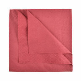 Swantex 40cm 3ply Burgundy Paper Napkins