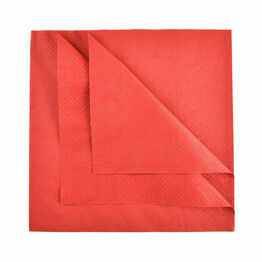 Swantex 40cm 3ply Red Paper Napkins
