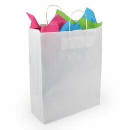 Medium Paper Carrier Bags Twist Handle White 32cm x 41cm x 12cm
