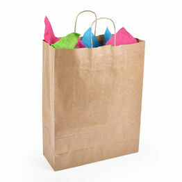 Medium Brown Kraft Paper Carrier Bags Twist Handle 32cm x 41cm x 12cm