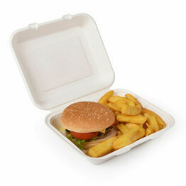 9 x 8in Bagasse Lunch Box