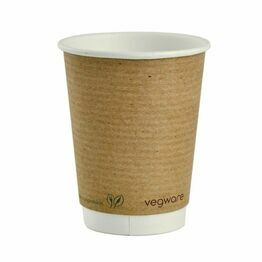 8oz Double Wall Brown Kraft Coffee Cup Vegware