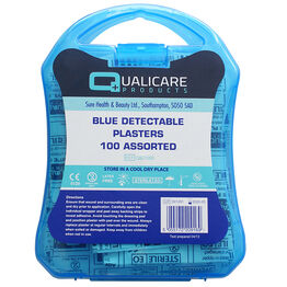 Blue Washproof Plasters 7.2cm x 2.5cm (Pack of 100)