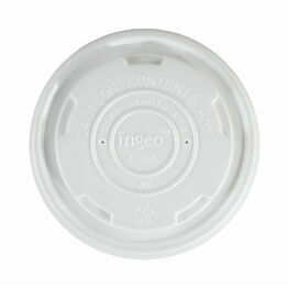 8oz Compostable PLA soup lids