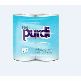 2ply Purdi standard toilet tissue - Pack of 4