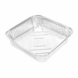 "9"" x 9"" x 2"" (230 x 230mm x 50mm) Deep square aluminium foil containers"