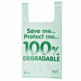 "13"" x 19"" x 23"" Jumbo Image 100% Degradable Plastic Carrier Bags (Packs of 100)"