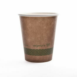 Vegware KV-6 6oz Brown Kraft Hot Cup, 72-Series
