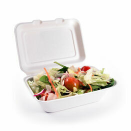 7 x 5in Bagasse Clamshell Box