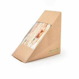 Vegware VWST75 Deep Fill 75mm Kraft Sandwich Wedge