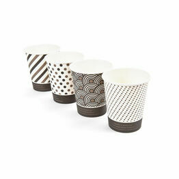 8oz Mixed Design Bamboo Disposable Cups - Compostable