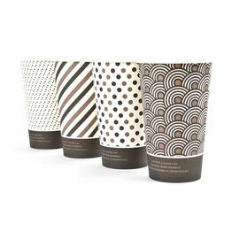 16oz Mixed Design Bamboo Disposable Cups - Compostable