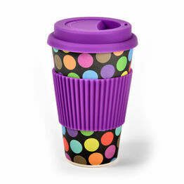 Reusable Bamboo Travel Mug - Dots (400ml/14oz)