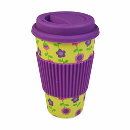 Reusable Bamboo Travel Mug - Floral (400ml/14oz)