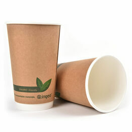 16oz Double Wall Brown Kraft Cup