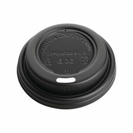 Fiesta Black Compostable Espresso Cup Lids 113ml / 4oz