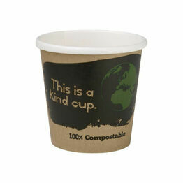 Fiesta Green Compostable Espresso Cups Single Wall - 4oz