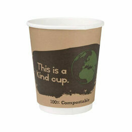 Fiesta Green Compostable Hot Cups Double Wall 227ml / 8oz