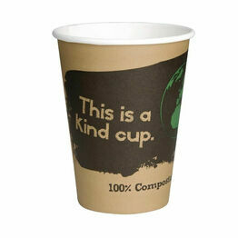 Fiesta Green Compostable Hot Cups Single Wall 340ml / 12oz