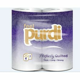 3ply Purdi Luxury toilet tissue pack of 4