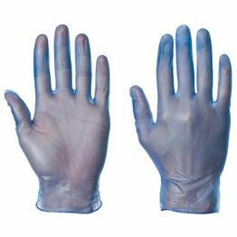 Vinyl Gloves Blue Powdered or Powder  Free (100 Gloves Per Pack)