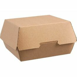 Compostable Kraft burger box large