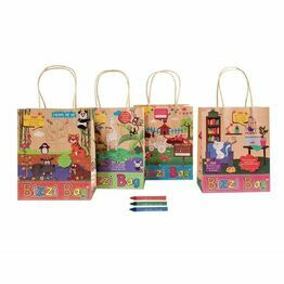 Crafti's Kids Recycled Kraft Bizzi Packed lunch Bags