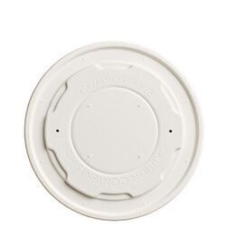 12/16oz Compostable Paper Soup Lids