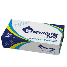 Wrapmaster Foil Refill 30cm x 90m Pack of 3 rolls