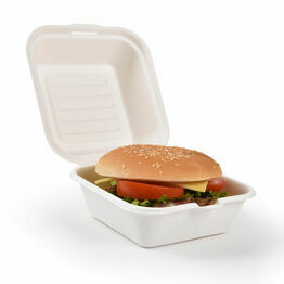"6"" Takeaway Burger Box Bagasse"