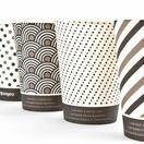 12oz Mixed Design Bamboo Disposable Cups - Compostable additional 2