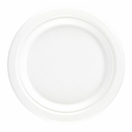 "7"" Bagasse Round Plate"
