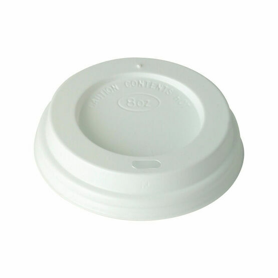 80mm White Plastic Lids To Fit 8oz Hot Cups