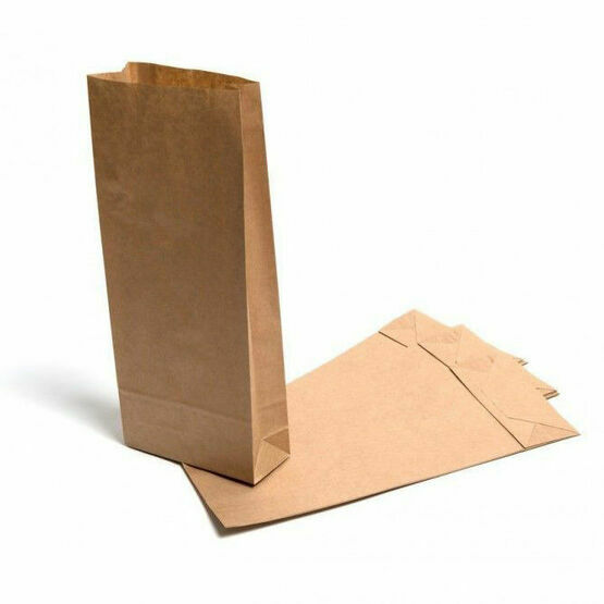 10lb Block Bottom Brown Kraft Paper Bags 21cm x 38cm x 11cm