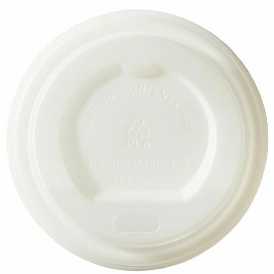 62mm White Cpla Lids To Fit 4oz Hot Cup