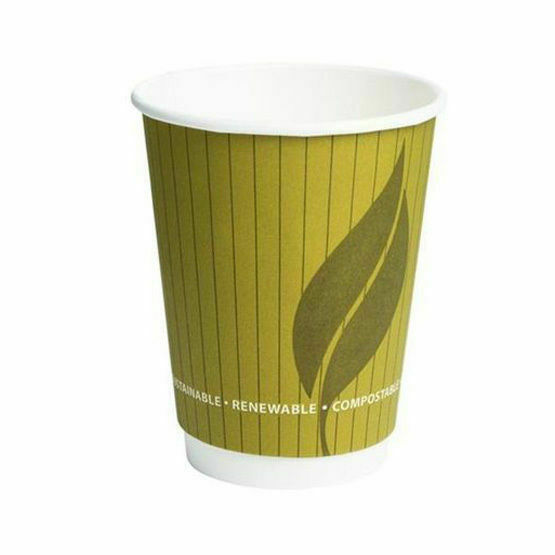 12oz Leaf Double Wall Hot Cup